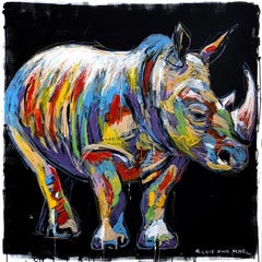 Painting - Gillie and Marc - Original Art - Colorful - Animal - Wild - Rhino