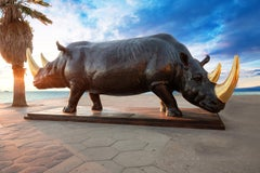 Photography Print - Pop Art - Gillie and Marc - Sculpture - Two Rhinos