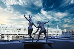 Photography Print - Public Art - Gillie and Marc - Sculpture - Surfing Waves