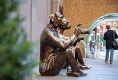 Photography Print - Public Art - Sculpture - Paparazzi Dogman NYC