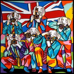 Painting - Gillie and Marc - Art - Limited Edition - Paparazzi Dogs - Britain