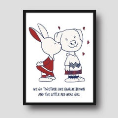 Painting Print - Gillie and Marc - Art - Limited Edition -Giclee- Love - Cartoon