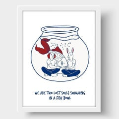 Painting Print - Gillie and Marc - Art - Limited Edition - Love - Fish - Swim