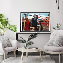 Painting Print - Pop Art - Gillie and Marc - Limited Edition - Jet Plane - Love