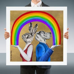 Painting Print - Pop Art - Gillie and Marc - Limited Edition - Rainbow - Love