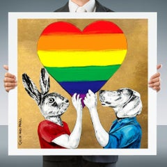 Painting Print - Pop Art - Gillie and Marc - Limited Edition - Rainbow - Proud