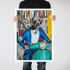 Painting Print - Pop Art - Gillie and Marc - Limited Edition - Vespa - Love