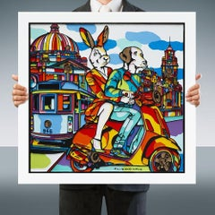 Painting Print - Pop Art - Gillie and Marc - Limited Edition - Vespa - Melbourne