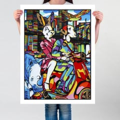 Painting Print - Pop Art - Gillie and Marc - Limited Edition - Vespa - NYC