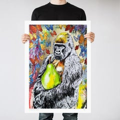 Pop Art - Painting Print - Gillie and Marc - Limited Edition - Gorilla - Pear