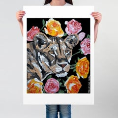 Pop Art - Painting Print - Gillie and Marc - Limited Edition - Lion  Roses