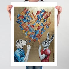 Pop Art - Painting Print - Gillie and Marc - Limited Edition - Love - Butterfly
