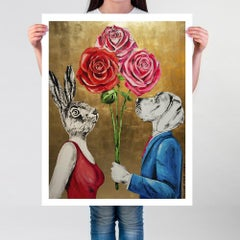 Pop Art - Painting Print - Gillie and Marc - Limited Edition - Love - Flowers