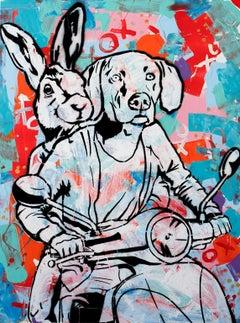 Pop Art - Painting Print - Gillie and Marc - Ltd Ed - Giclee - Never apart -2019