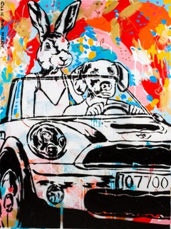 Pop Art - Painting Print - Gillie and Marc - Ltd Ed - Giclee -They loved driving