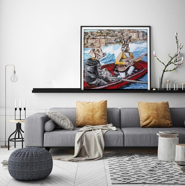 Print - Gillie and Marc - Art - Limited Edition - Bondi Beach - Love - Adventure - Contemporary Painting by Gillie and Marc Schattner