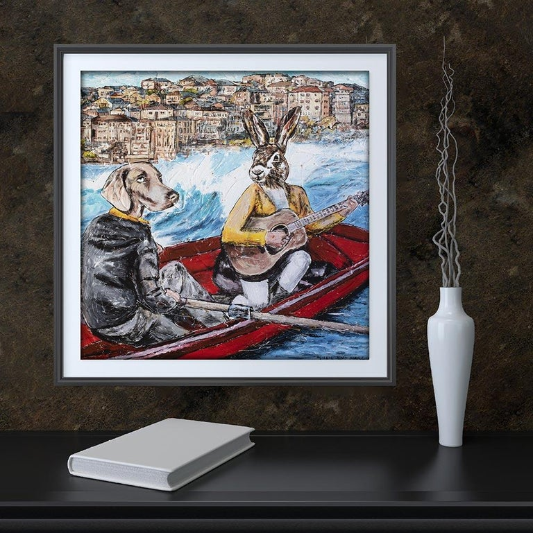 Title: They were Bondi lovers Limited Edition Giclee Print  Gillie and Marc's paintings are signed, limited-editions and are produced on Entrada Rag Bright 300gsm, 100% acid free, 100% cotton rag paper, with a 40mm white border.    IMPORTANT: Buying