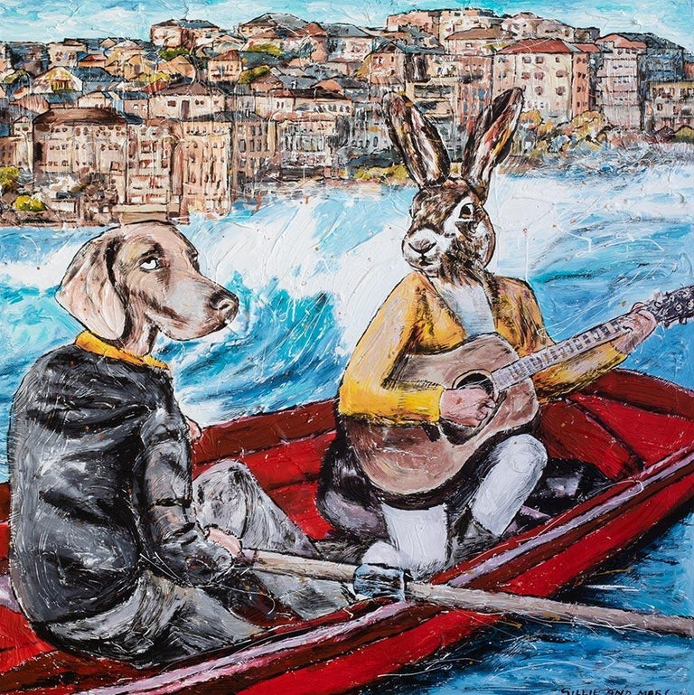 Gillie and Marc Schattner Animal Painting - Print - Gillie and Marc - Art - Limited Edition - Bondi Beach - Love - Adventure
