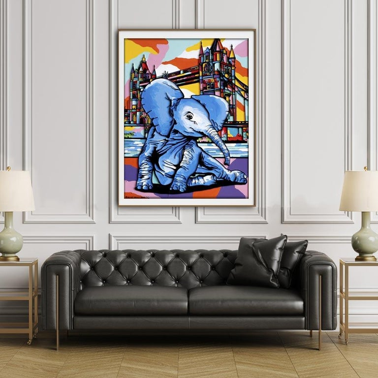 Print - Gillie and Marc - Art - Limited Edition - Elephant Orphan - London For Sale 1