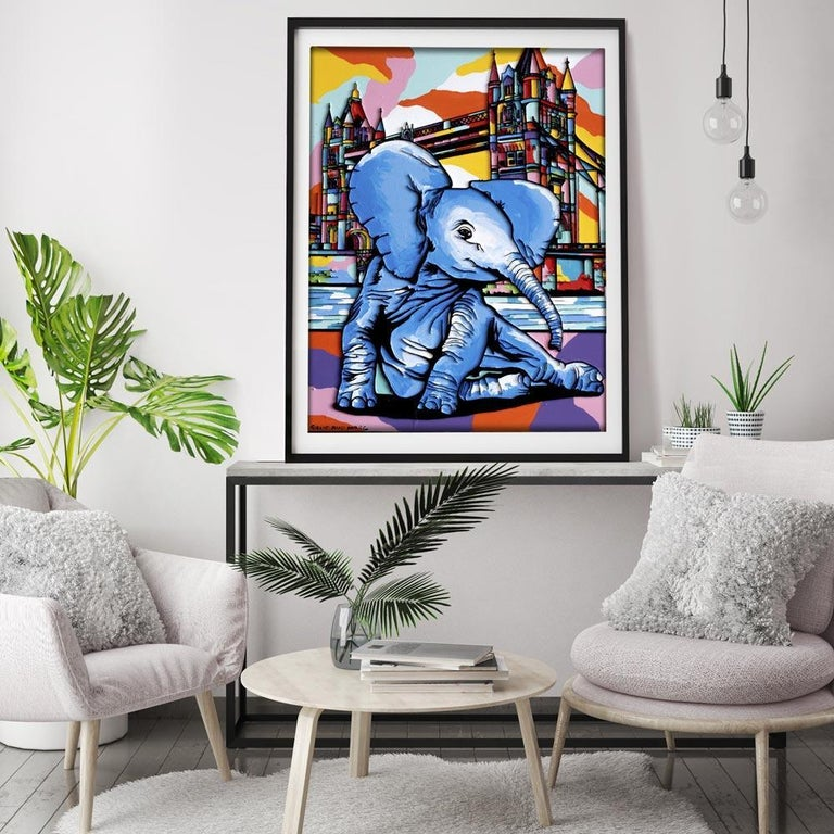 Print - Gillie and Marc - Art - Limited Edition - Elephant Orphan - London For Sale 2