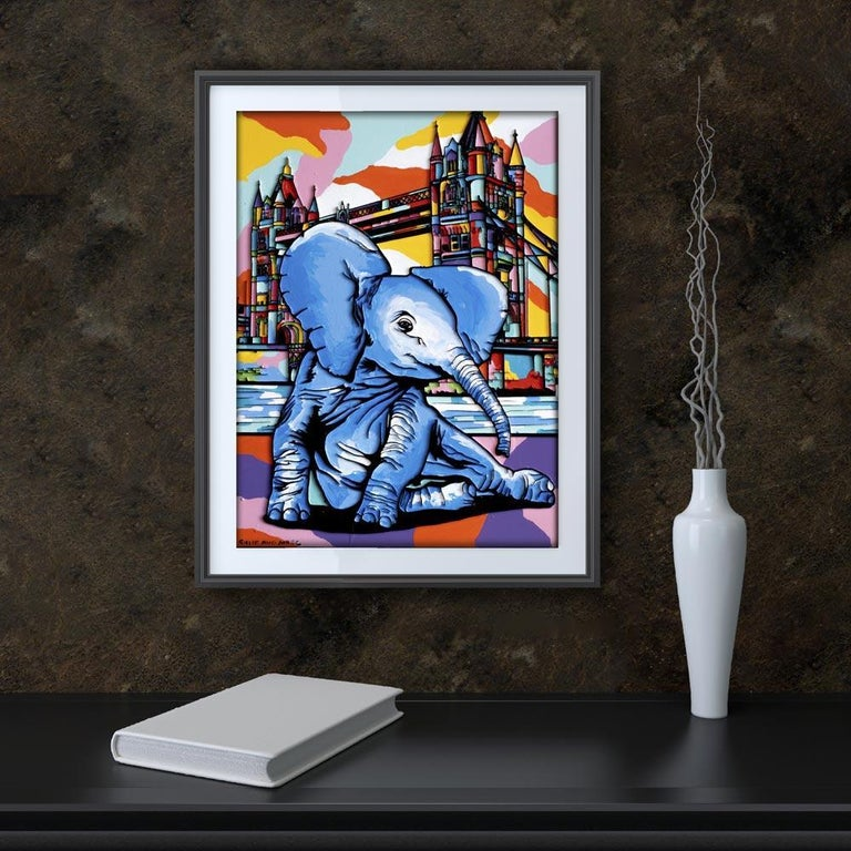 Print - Gillie and Marc - Art - Limited Edition - Elephant Orphan - London For Sale 3