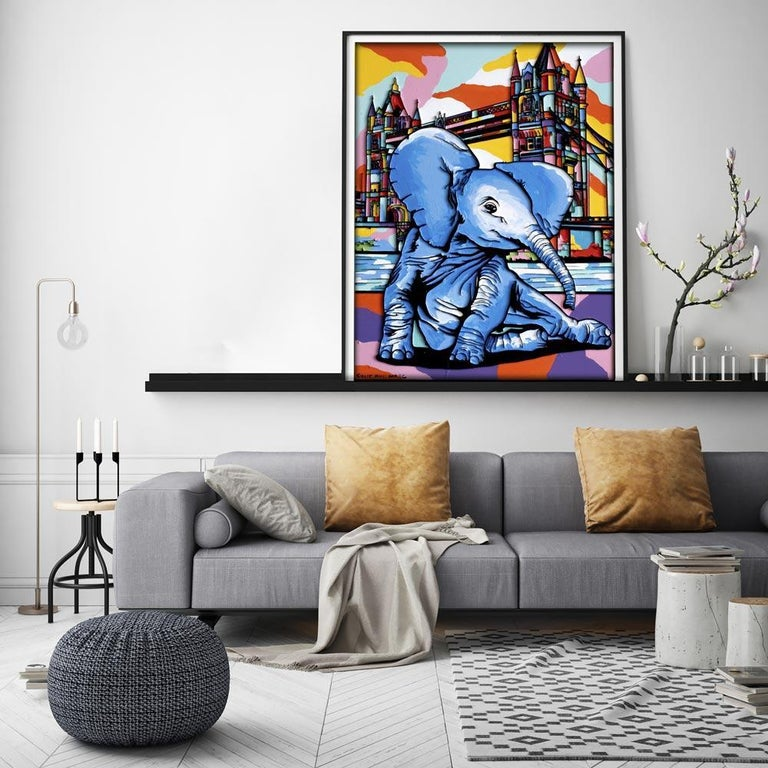 Print - Gillie and Marc - Art - Limited Edition - Elephant Orphan - London For Sale 5