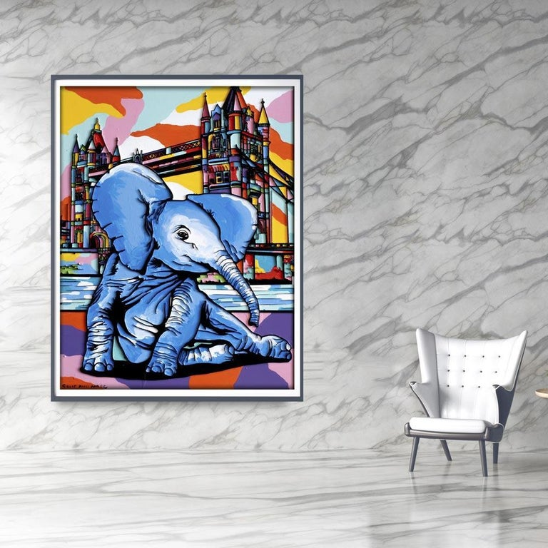 Print - Gillie and Marc - Art - Limited Edition - Elephant Orphan - London For Sale 6