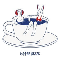 Print - Gillie and Marc - Art - Limited Edition - Love - Coffee Cup - Relax
