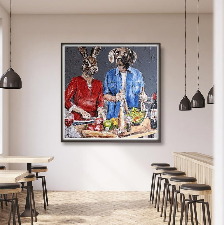 Print - Gillie and Marc - Art - Limited Edition - Love - Cooking - Together For Sale 1