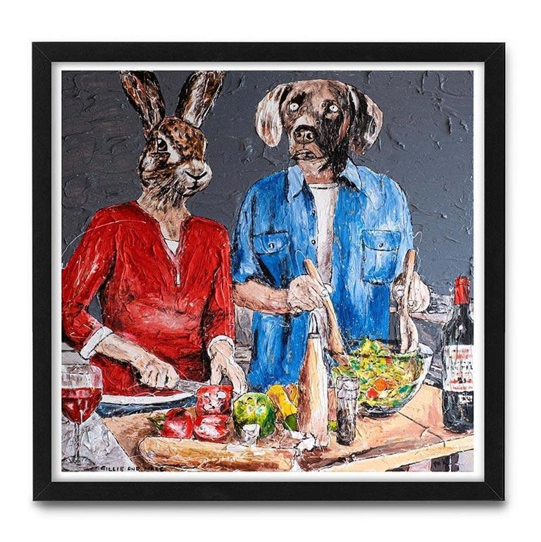 Print - Gillie and Marc - Art - Limited Edition - Love - Cooking - Together For Sale 2