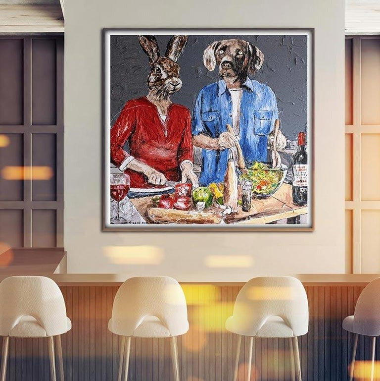 Print - Gillie and Marc - Art - Limited Edition - Love - Cooking - Together For Sale 3