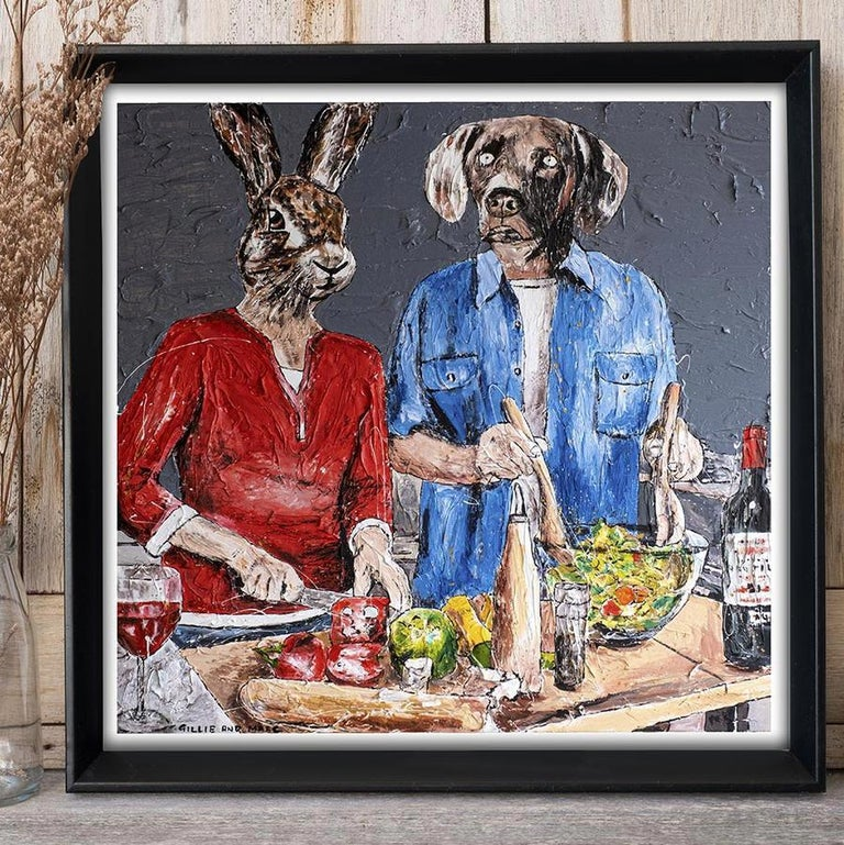 Print - Gillie and Marc - Art - Limited Edition - Love - Cooking - Together For Sale 5
