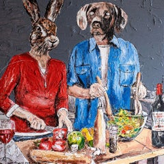 Print - Gillie and Marc - Art - Limited Edition - Love - Cooking - Together