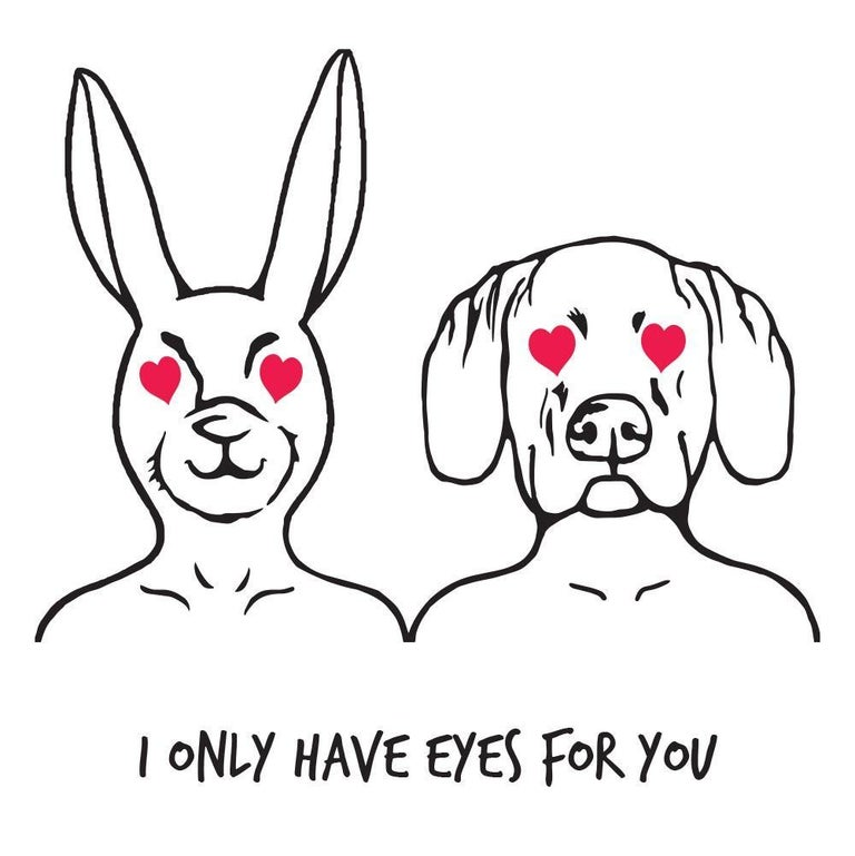 Print - Gillie and Marc - Art - Limited Edition - Love - Equality - Eyes for You - Painting by Gillie and Marc Schattner