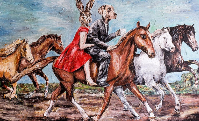 Print - Gillie and Marc - Art - Limited Edition - Love - Horse - Ride - Together For Sale 1