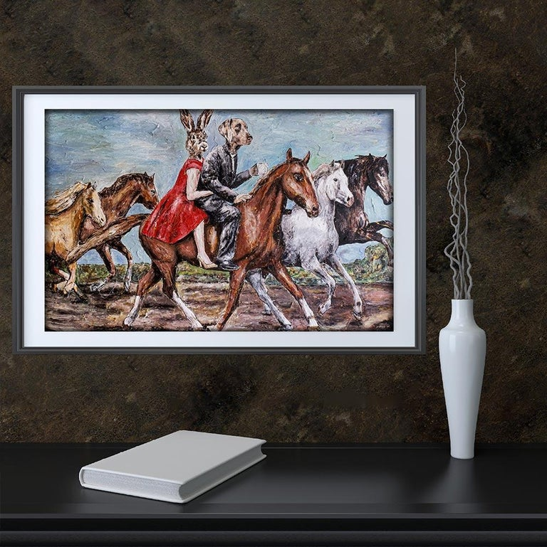Print - Gillie and Marc - Art - Limited Edition - Love - Horse - Ride - Together For Sale 2