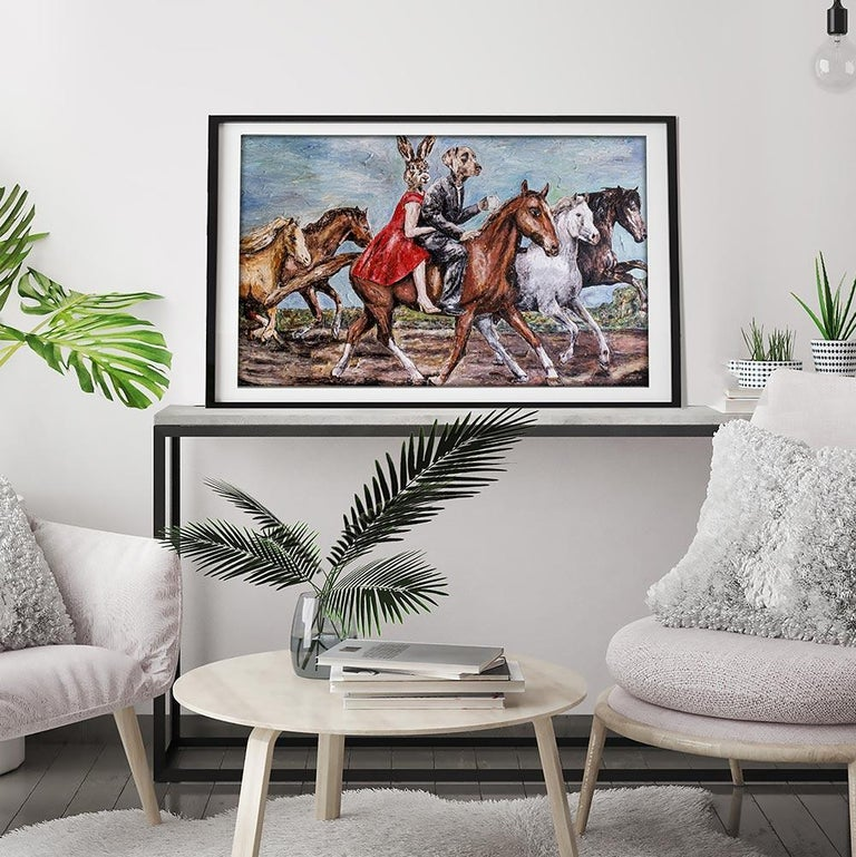 Print - Gillie and Marc - Art - Limited Edition - Love - Horse - Ride - Together For Sale 3