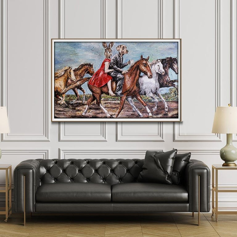 Print - Gillie and Marc - Art - Limited Edition - Love - Horse - Ride - Together For Sale 4