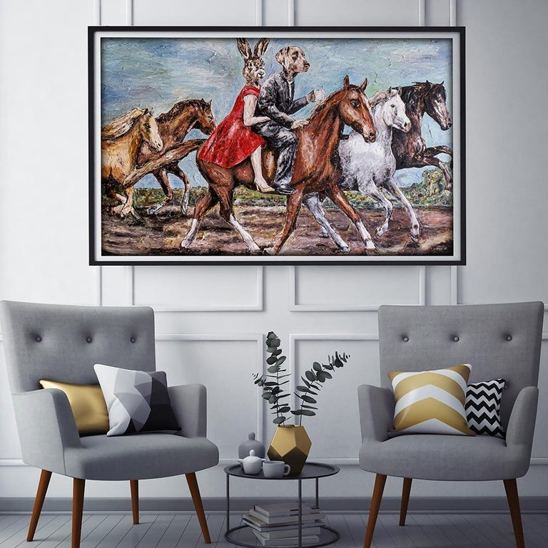 Print - Gillie and Marc - Art - Limited Edition - Love - Horse - Ride - Together For Sale 5