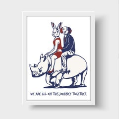 Print - Gillie and Marc - Art - Limited Edition - Love - Rhino - Adventure