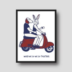 Print - Gillie and Marc - Art - Limited Edition - Love - Vespa - Adventure
