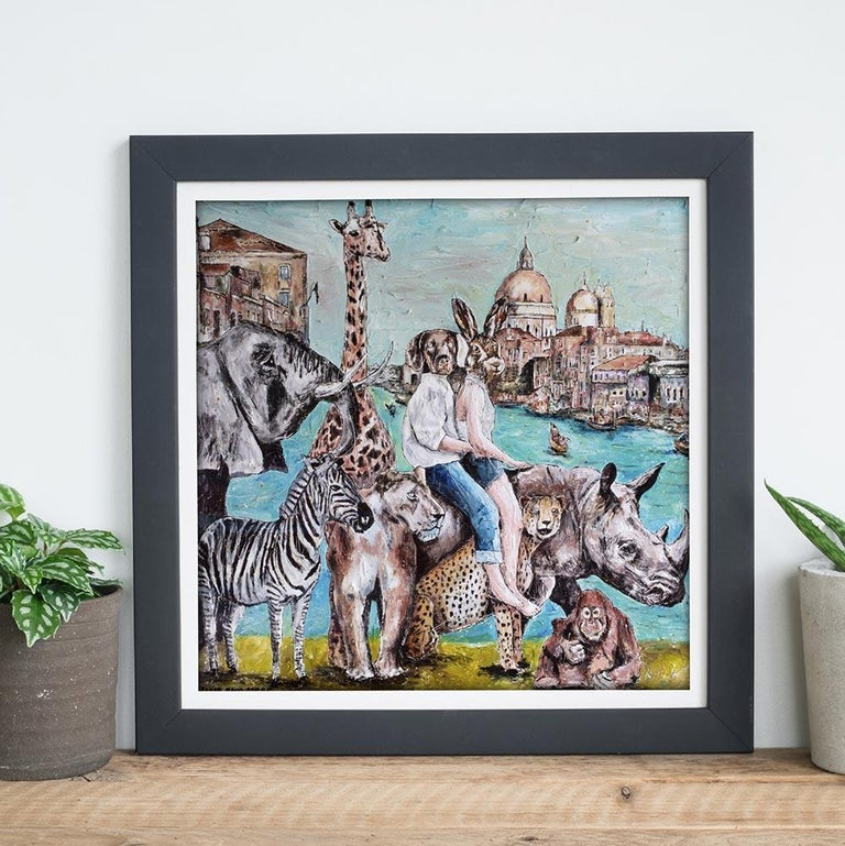 Print - Gillie and Marc - Art - Limited Edition - Wildlife Love - Adventure - Painting by Gillie and Marc Schattner