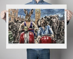 Print - Limited Edition - Animal Art - Gillie and Marc - Elephant Adventure