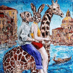 Print - Limited Edition - Animal Art - Gillie and Marc - Giraffe Adventure