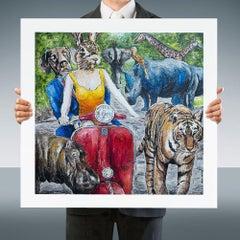Print - Limited Edition - Animal Art - Gillie and Marc - Rabbit - Dog - Animals