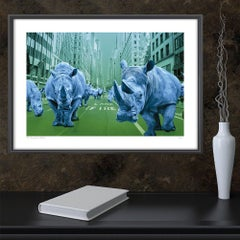 Print - Limited Edition - Animal Art - Gillie and Marc - Rhinos - New