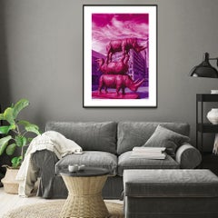 Print - Limited Edition - Animal Art - Gillie and Marc - The last three in pink