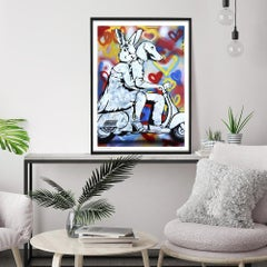 Print - Limited Edition - Love Art - Gillie and Marc - Vespa - Stencil - Paint