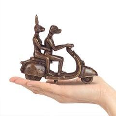 Bronze Sculpture - Art - Gillie and Marc - Love - Dog - Rabbit - Vespa - Pocket
