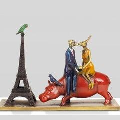 Bronze Sculpture - Art - Gillie and Marc - Love - Story - Dog - Rabbit - Hippo